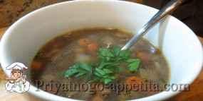 Куриный суп с рисом и квасом