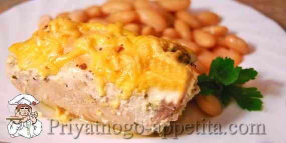Куриные рулетики с сыром и грибами