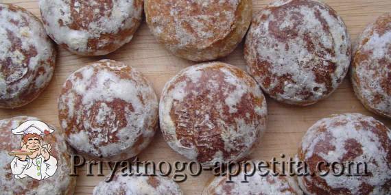 Медовые пряники с грецкими орехами