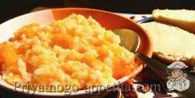 Кабаковая каша с молоком и рисом