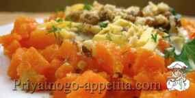 Тыквенный салат с кефиром