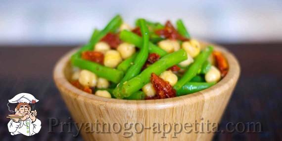 Теплый фасолевый салат