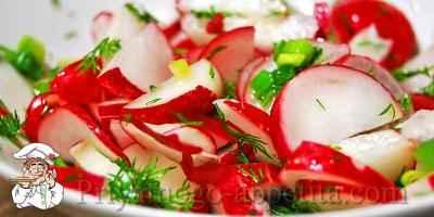 Салат из редиса с маслом