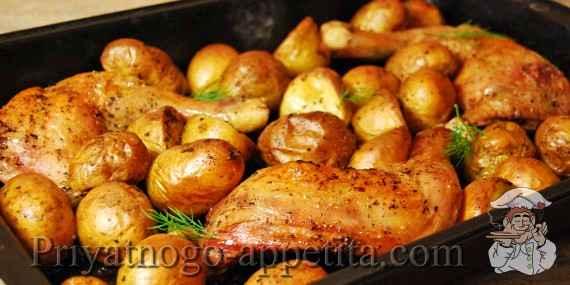 Курица с молодой картошкой