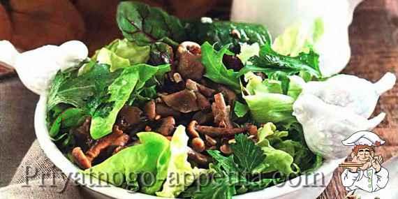 Салат грибы с семечками