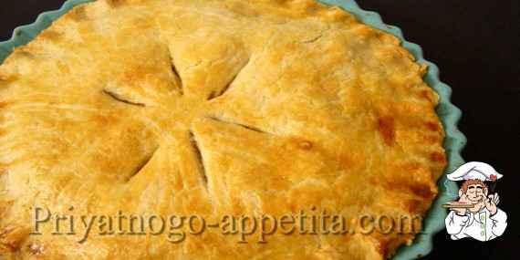 Мясной пирог с творожным тестом