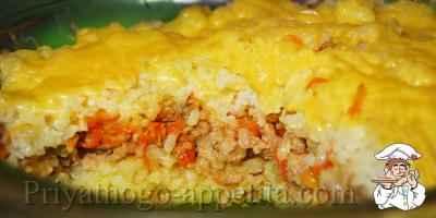 Рисовая запеканка с фаршем