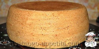 Рецепт бисквита в мультиварке