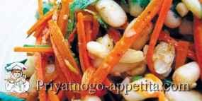 Салат из фасоли и моркови