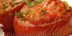 Помидоры фаршированные мясом и баклажанами