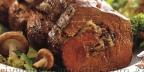 Бифштекс фаршированный грибами