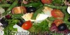 Овощной салат с анчоусами