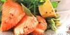 Салат с сыром и красной рыбой