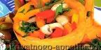 Кабачки с овощной смесью