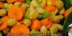 Салат из фасоли, моркови и сельдерея
