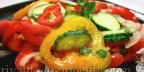 Салат из помидоров, огурцов и перца