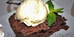 Ореховый брауни с апельсиновым кремом