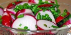 Салат из редиски и зеленого лука