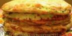 Блинный торт из кабачков