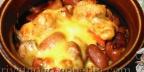 Фасоль с мясом в томатно - сметанном соусе