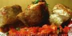 Жареная рыба с болгарским перцем и помидорами