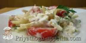 Салат из помидоров и простокваши