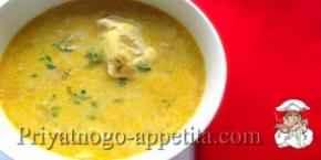 Куриный суп с яичными желтками