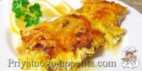 Рыбное филе, запеченное в духовке