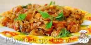 Тушеные овощи с грибами