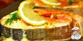 Стейки из лосося в духовке