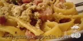 Спагетти с фенхелем и крабами