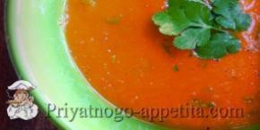 Бульон с помидорами