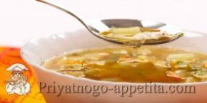Суп с цветной капустой