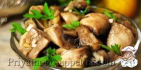 Маринованные грибы с имбирем
