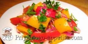 Салат из маринованного болгарского перца