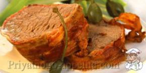 Говядина в духовке с овощами