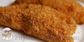 Зразы говяжьи с пшеничной кашей