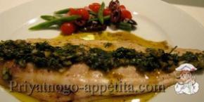 Скумбрия с оливками на гриле