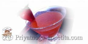 Клубничный коктейль с текилой