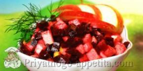 Салат из свеклы с яблоком