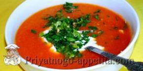 Суп со свининой «Острый»