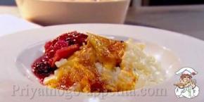 Рецепт рисового пудинга