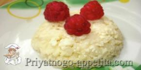 Творожная запеканка с рисом