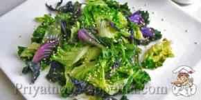 Салат из листьев салата