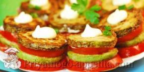 Жареные кабачки с помидорами