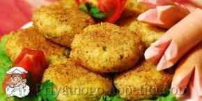 Котлеты из картофеля и каши