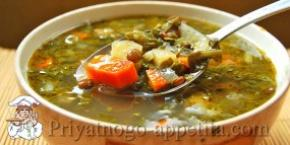 Суп из чечевицы со шпинатом
