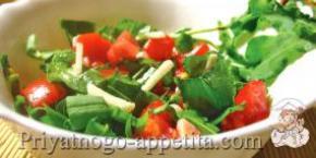 Салат из помидоров и щавеля