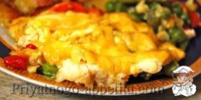 Филе рыбы с овощами