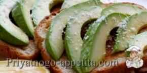 Гренки с авокадо